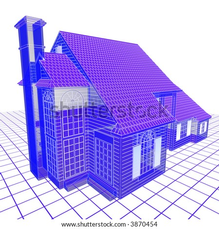 Perspective blueprint double storey house stock illustration 3870454 perspective blueprint of a double storey house malvernweather Images
