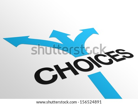 Perspective Choices Sign - stock photo