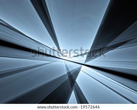 perspective geometric background - stock photo