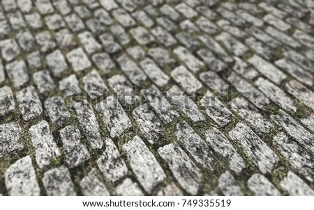 Perspective Ground Texture 3D Illustration, Ground Background