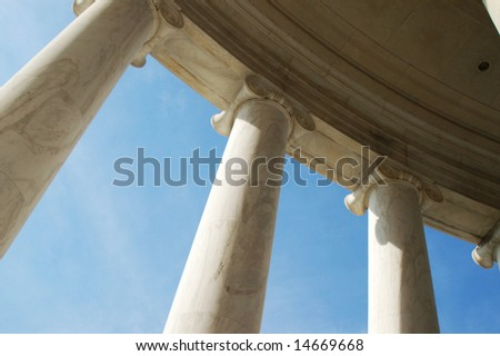 Perspective of Columns, curved row