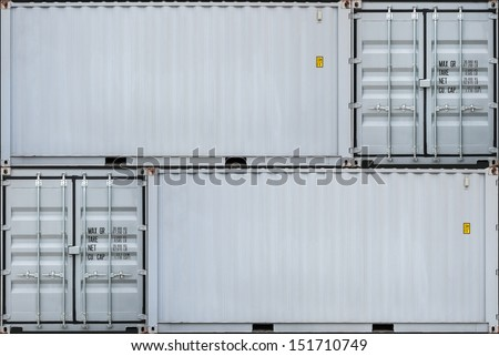Perspective of gray container - stock photo
