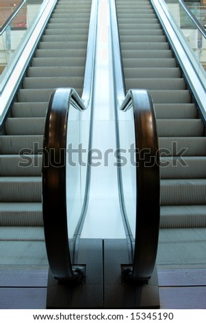 perspective of moving staircase in big moll