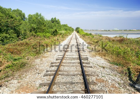 perspective of railway