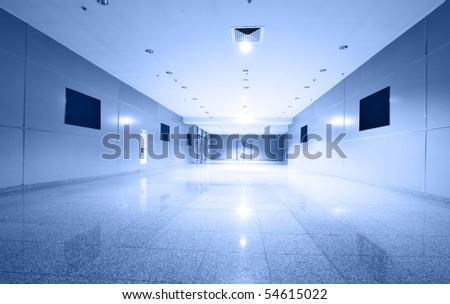 Perspective of the corridor - stock photo