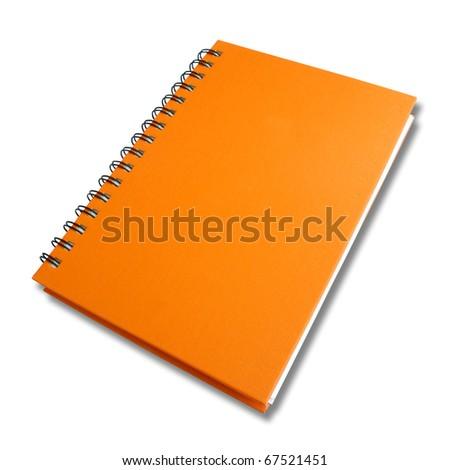 perspective orange note book - stock photo