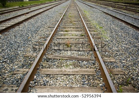 perspective , sleepers and rails railroad transportation industry