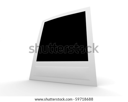 perspective view blank photo - stock photo