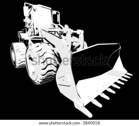Perspective view illustration of an Earthmover. - stock photo
