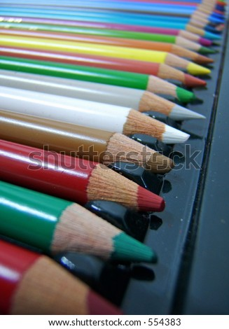 perspective view of a huge pencil box
