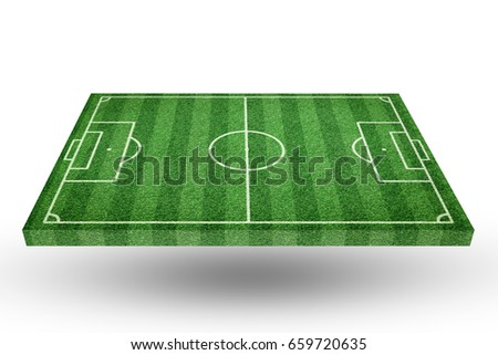 perspective view of soccer field, football field