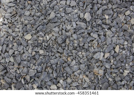 Perspective View On The Rocky Pebble Surface, Stone Background Or Texture, Shingle Beach, Mountain Off Road Backdrop - stock photo