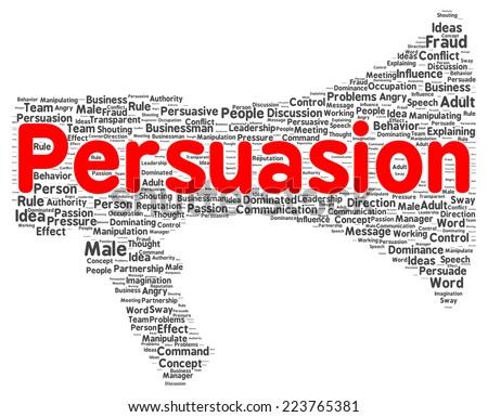 Persuasion word cloud shape concept - stock photo
