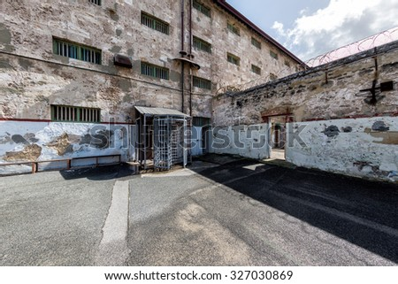 PERTH - AUSTRALIA - AUGUST, 20 2015 - Fremantle Prison was constructed as a prison for convicts and more than 50 people were hanged inside the building
