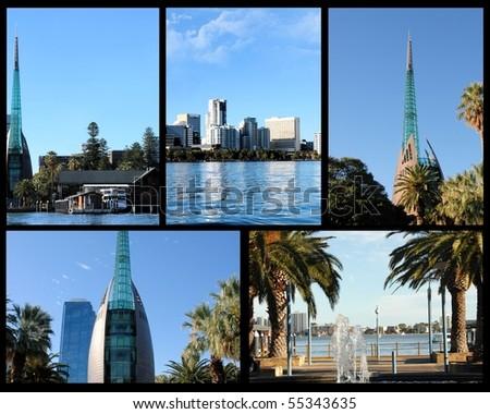 Perth Australia collage - stock photo