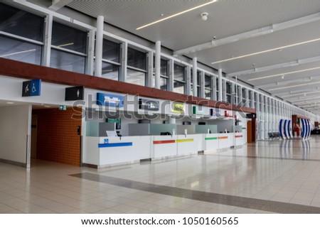PERTH, AUSTRALIA - November 4, 2016 : Airport car rental counter