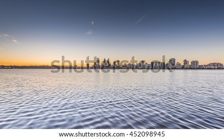 Perth, capital of Western Australia, where the Swan River meets the southwest coast.