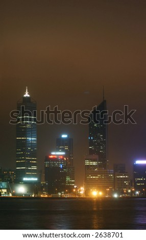 perth city at night - stock photo