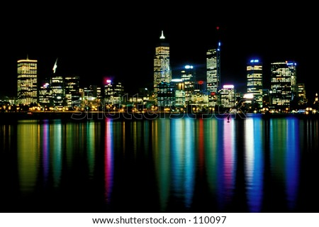 Perth Reflection - stock photo