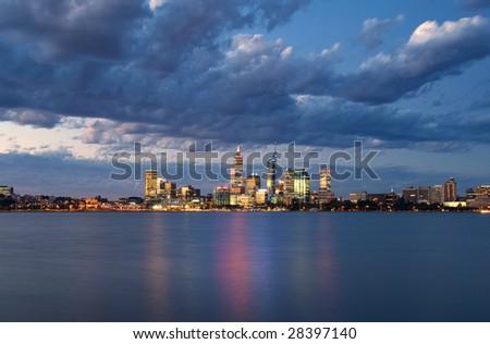 Perth Skyline - stock photo