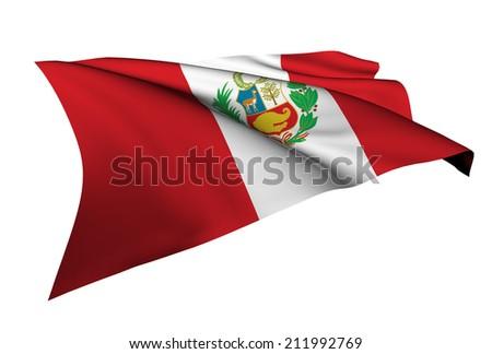 Peru flag - collection no_5  - stock photo