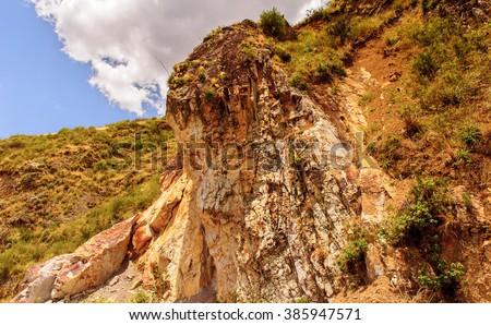 Peruvian Andes mountain - stock photo