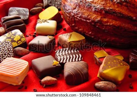 peruvian chocolate candy - stock photo