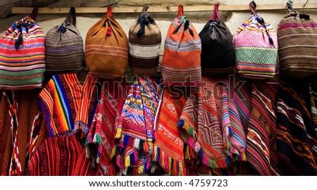 Peruvian Colorful Woven Objects - stock photo