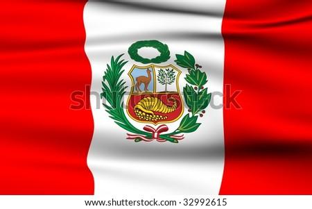 Peruvian Flag - stock photo
