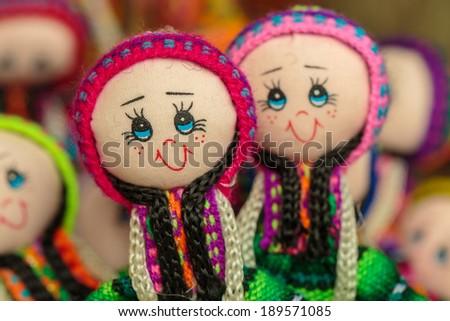 Peruvian handicraft dolls - stock photo