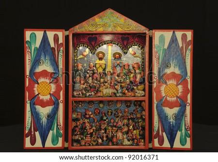 Peruvian Retablo handicraft - stock photo