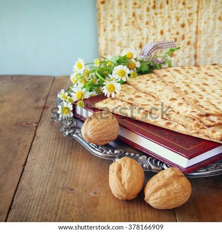 Pesah celebration concept (jewish Passover holiday)  - stock photo