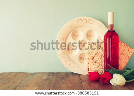 Pesah celebration concept (jewish Passover holiday). - stock photo