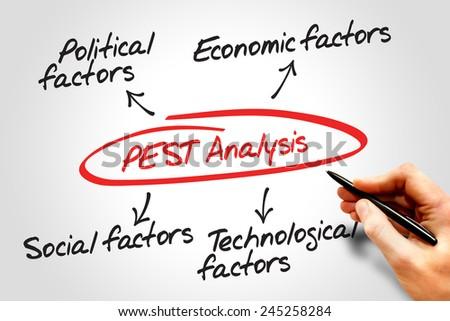 Pest Analysis Flow Chart Political Economic Stock Photo 245258284 ...