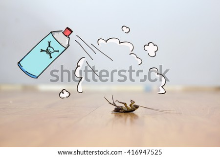 Pest Control Concept , pesticide effect - stock photo