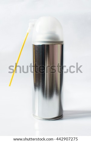 Pesticide cans isolated on white background