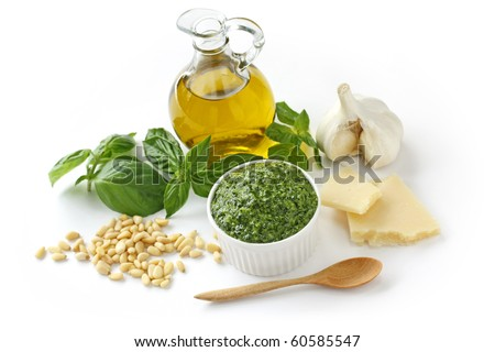 Pesto alla Genovese , Basil Sauce - stock photo