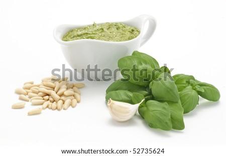 Pesto sauce - stock photo