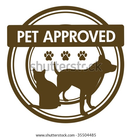 Pet Approved Stamp - stock photo