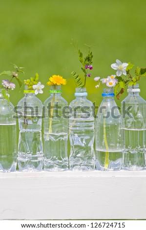 PET bottles, - stock photo
