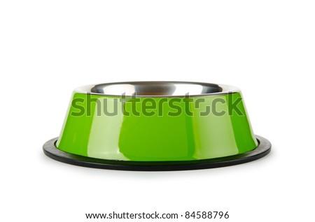 Pet bowl isolated on the white background - stock photo