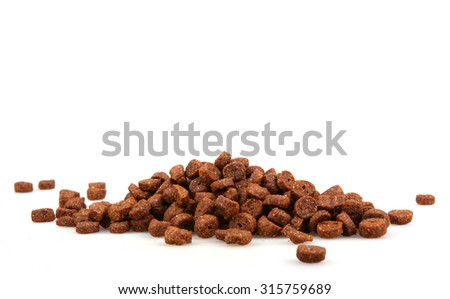 pet food isolated on white - stock photo