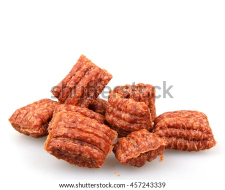 Pet food on a white background. - stock photo