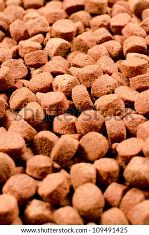 Pet food texture. Shallow depth of field. Useful for backgrounds.
