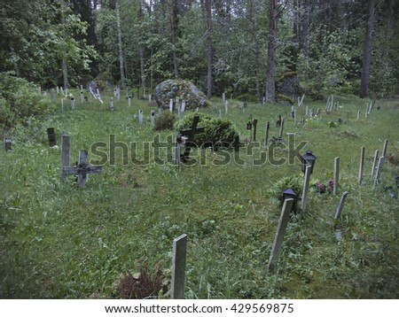 Pet Graveyard - stock photo