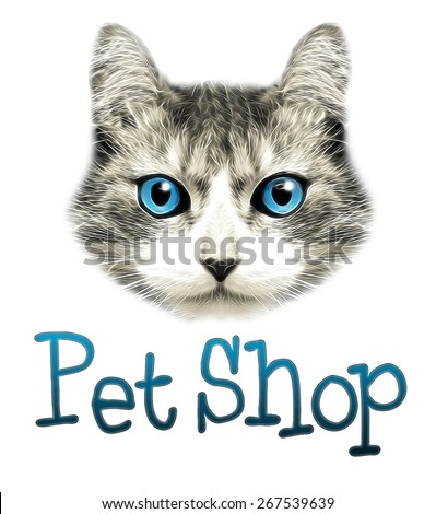 pet shop.cat stickers.t-shirt graphics.cute cat.cat illustration.watercolor cat.cat poster.adorable cute cat.tabby cat.Grunge background with a stylized cat face theme, illustration.animal cat. - stock photo