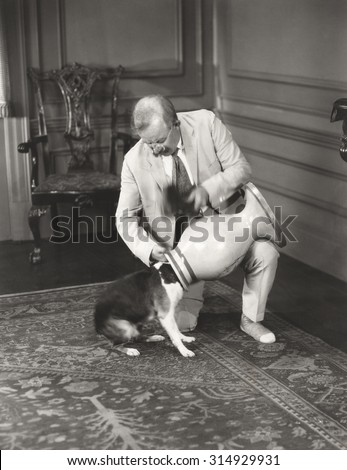 Pet trick gone astray - stock photo