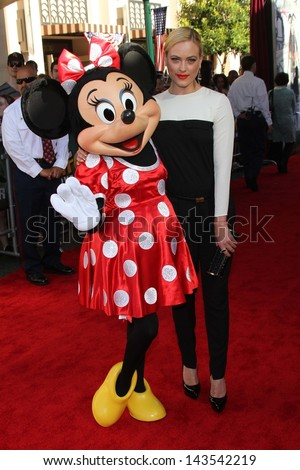"Peta Murgatroyd with Minnie Mouse at ""The Lone Ranger"" Premiere, Disney's California Adventure, Anaheim, CA 06-22-13 - stock photo"