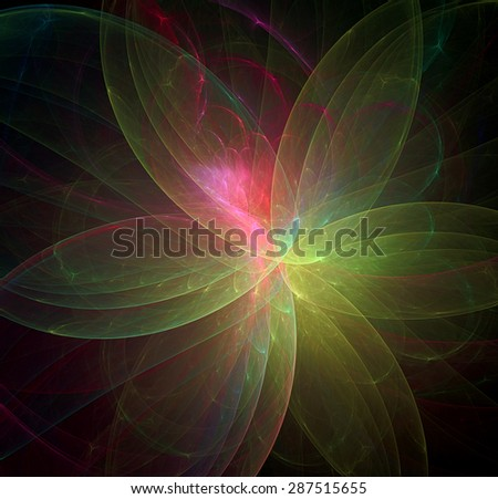 Petals abstract illustration - stock photo