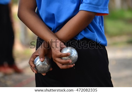 Petanque balls  Fun and relaxing game